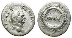 Ancient Coins - VESPASIAN. DENARIUS. AD 73. ROME. ATTRACTIVE AND INTERESTING PRICE.
