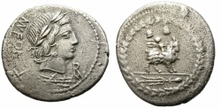 Ancient Coins - ROMAN REPUBLIC. FONTEIA_10. BC 85. SILVER DENARIUS. GOOD PRICE.