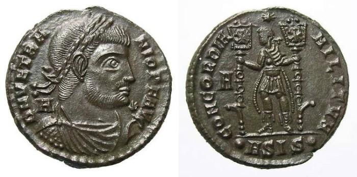 Ancient Coins - VETRANIO AE 21 mm. GREAT QUALITY. PRECIOUS PORTRAIT.