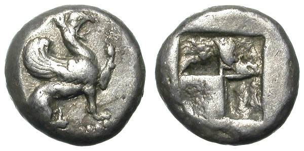 Ancient Coins - TEOS. HALF STATER. VF. ARCHAIC STYLE. NICE ISSUE !