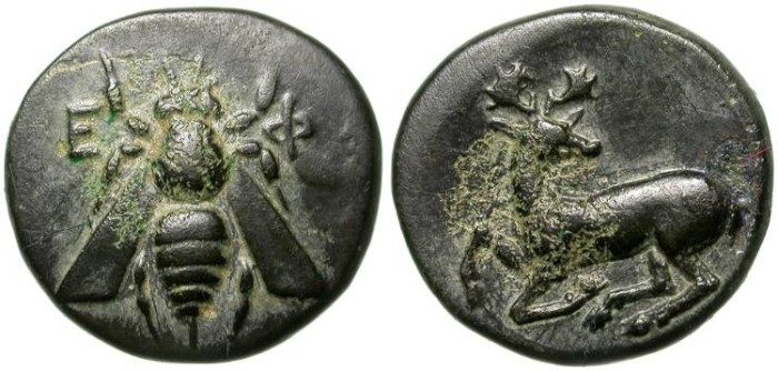 Ancient Coins - EPHESUS. BRONCE COIN VERY NICE.