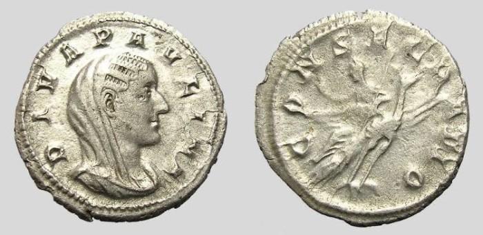 Ancient Coins - PAULINA DENARIUS. VERY RARE.