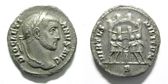Ancient Coins - DIOCLETIAN ARGENTEUS.INTERESTING.