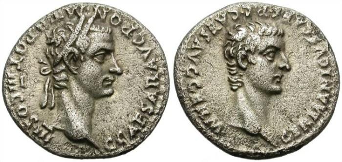 Ancient Coins - CALIGULA & GERMANICUS. 37-41 AD. SILVER DENARIUS. SCARCE AND ATTRACTIVE.