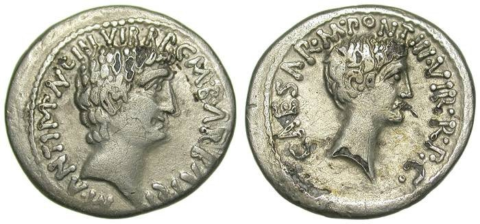 """Ancient Coins - MARC ANTHONY & OCTAVIAN. FOUREE """"DENAR"""". SUCH A BEAUTIFUL ANCIENT FAKE !"""