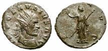 Ancient Coins - CLAUDIUS II GOTHIC. BILLON ANTONINIAN. PAX AVG. VERY RARE !