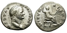 Ancient Coins - VESPASIANUS. 69-79 AD. SILVER DENARIUS. AFFORDABLE.