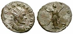 Ancient Coins - CLAUDIUS II GOTHIC. BILLON ANTONINIAN. PAX AVG. VERY RARE !