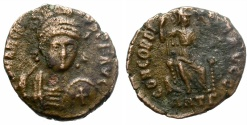 Ancient Coins - ARCADIUS. AD 383-408. FOLLIS. ANTIOCH. INTERESTING.