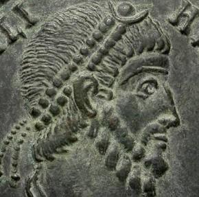 Ancient Coins - IULIANUS II. DOUBLE MAIORINA. RARE ARELATE EMISSION. GORGEOUS PORTRAIT