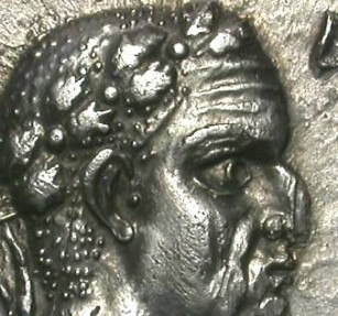 Ancient Coins - GALBA. DENAR. Almost EF except for crack and scratch. VERY RARE GALLIC TYPE !