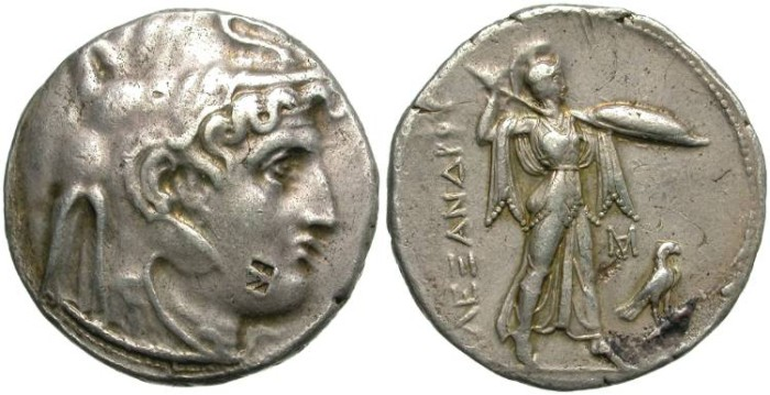 Ancient Coins - PTOLEMAIOS 1 ST.  SILVER TETRADRACH,  IN ALEXANDER'S  NAME.