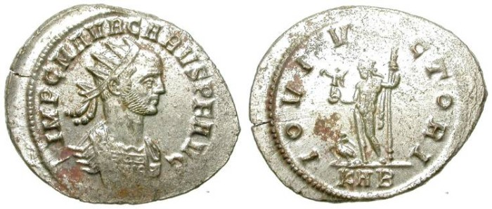 Ancient Coins - CARUS. AE ANTONINIANUS. ALMOST FULL SILVERING