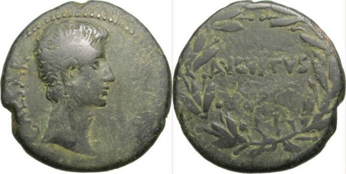 Ancient Coins - AUGUSTUS. AE AS. PROVINCIA ASIA (MOST PROBABLY PERGAMON)