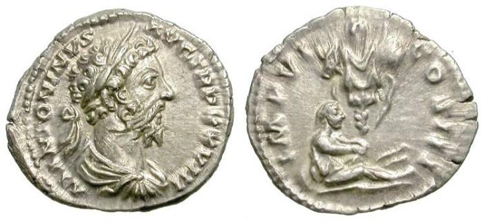 Ancient Coins - MARC AUREL. DENAR. ATTRACTIVE PORTRAIT. VERY NICE CONDITION.