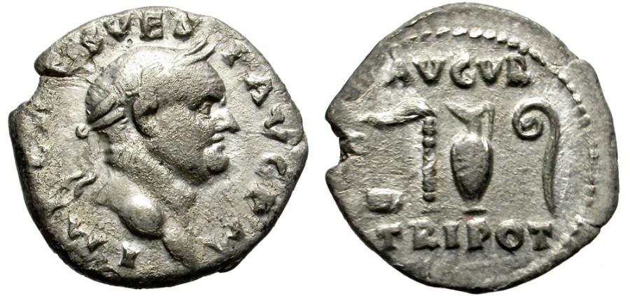 Ancient Coins - VESPASIANUS. 69-79 AD. SILVER DENARIUS.
