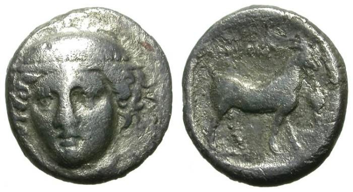 Ancient Coins - AINOS. TETROBOL. RARE AND ATTRACTIVE