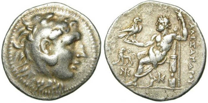 Ancient Coins - ALEXANDER THE GREAT. TETRADRACHM. MILET. RARE AND ATTRACTIVE