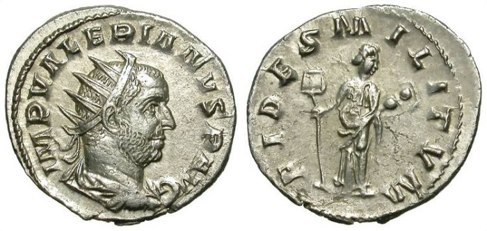Ancient Coins - VALERIAN. ANTONINIAN. FULL SILVER, STARTING EMISSION. NICE !