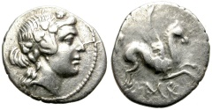 Ancient Coins - KORFU. KORKYRA. SILVER DRACHM. NICE STRIKE. EXCELLENT SILVER CONDITION /2