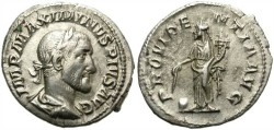 Ancient Coins - MAXIMINUS. SILVER DENARIUS. ATTRACTIVE PORTRAIT