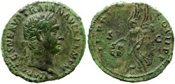 Ancient Coins - TRAJAN. AE AS. VERY NICE PORTRAIT.