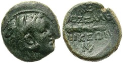 Ancient Coins - GREEK MACEDONIA.  THESSALONICA.  AE BRONZE. VERY SCARCE.