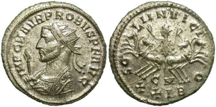 Ancient Coins - PROBUS. AE ANTONINIANUS.  CIZYCUS MINT.  MANY SILVERING. NICE BUST.