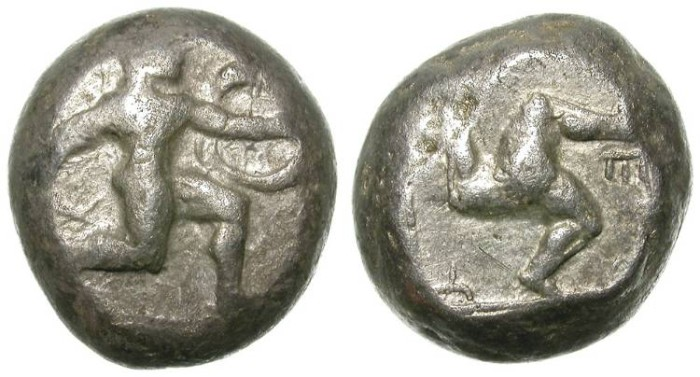 Ancient Coins - ASPENDOS, PAMPHILIA. ARHAIC STATER. RARE AND ATTRACTIVE EMISSION