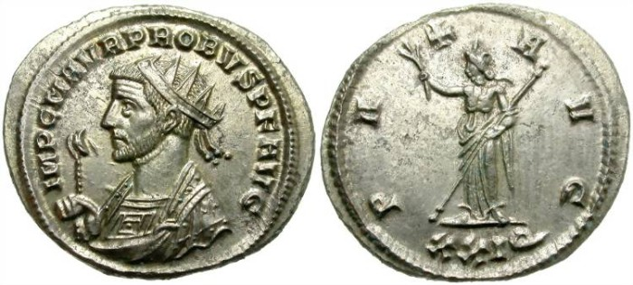 Ancient Coins - PROBUS. SISCIA. RIC 704.  FULL SILVERING. WONDERFUL STRIKE.