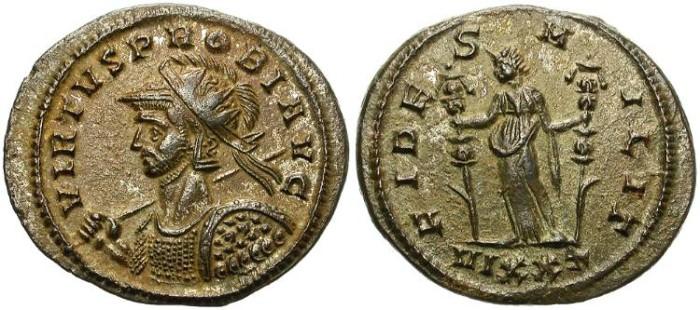 Ancient Coins - PROBUS. BILLON ANTONINIANUS. TICINUM MINT. BEAUTIFUL PORTRAIT.