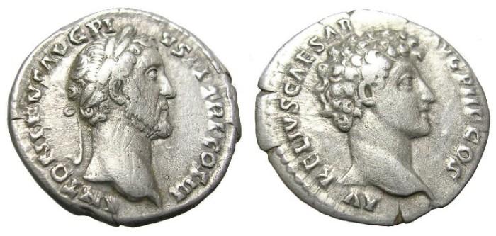 Ancient Coins - ANTONINUS PIUS  AND  MARCUS AURELIUS   DENARIUS.