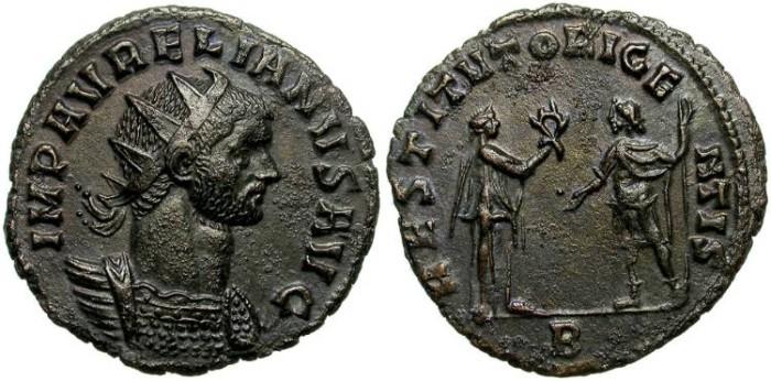 Ancient Coins - AURELIAN. AE ANTONINIANUS. RARE: RESTITUTOR GENTIS