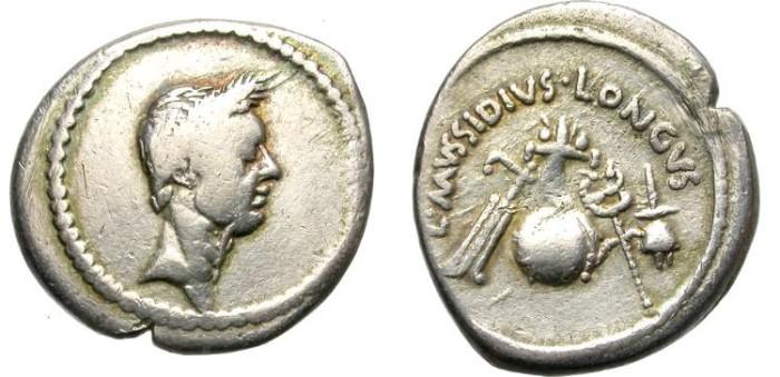 Ancient Coins - IULIUS CAESAR. PORTRAIT SILVER DENARIUS. ATTRACTIVE AND AFFORDABLE SAMPLE