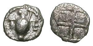 Ancient Coins - TERONE. THIRD OBOL. MICROSCOPIC NUMISMATIC JEWEL !