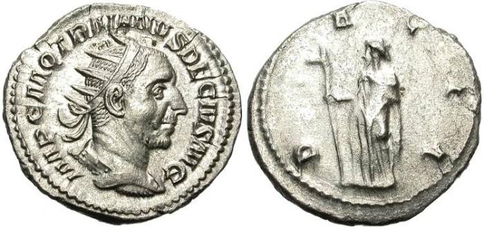 Ancient Coins - TRAIANUS DECIUS.  AD 249-251. SILVER ANTONINIANUS. NICE PORTRAIT.  GOOD  QUALITY.