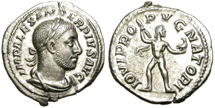 Ancient Coins - SEVERUS ALEXANDER. DENAR. LUSTROUS EF. SO NICE !