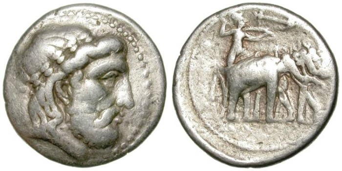 Ancient Coins - SELEUKOS I. SELEUKID EMPIRE. TETRADRACHM. SELEUKEIA MINT. RARE & AFFORDABLE.