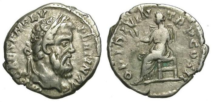 Ancient Coins - PERTINAX. DENAR. RARE PIECE. GOOD CONDITION. OPPORTUNITY!