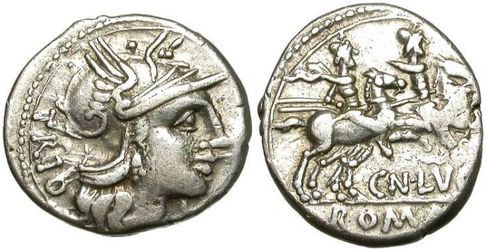 Ancient Coins - ROMAN REPUBLIC. SILVER DENARIUS. LUCRETIA 1