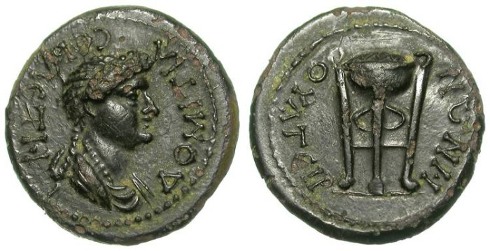 Ancient Coins - DOMITIA. PROVINCIAL AE. THYATHERIA, LIDIA. BEAUTIFUL PORTRAIT
