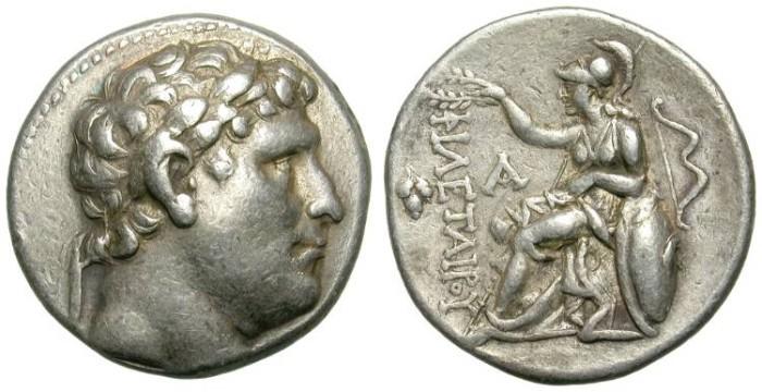 Ancient Coins - ATTALOS I. PERGAMENE KINGDOM. SILVER TETRADRACHM. FORCEFUL PORTRAIT