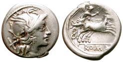 Ancient Coins - ROMAN REPUBLIC. ANONYMOUS ISSUE. DENARIUS. 157-156 B.C. BIGA ON REVERSE