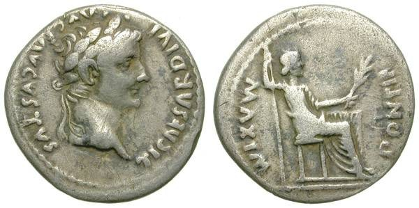 Ancient Coins - TIBERIUS. TRIBUTE PENNY. NICE ISSUE.