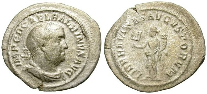 Ancient Coins - FILLING THE HOLE: BALBINUS. SILVER DENAR. AFFORDABLE AND INTERESTING EMPEROR