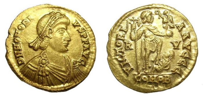 Ancient Coins - HONORIUS SOLIDUS. GREAT QUALITY.