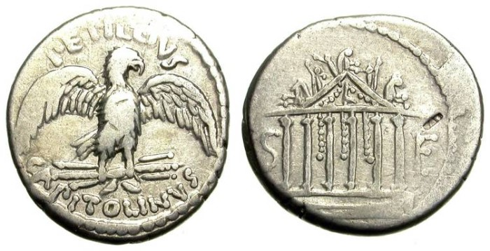 Ancient Coins - PETILLIUS. DENAR. ROMAN REPUBLIC. VERY INTERESTING