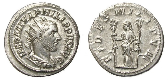 Ancient Coins - PHILIP I, A. D.  244-249.  ANTONINIANUS.  GREAT  QUALITY.