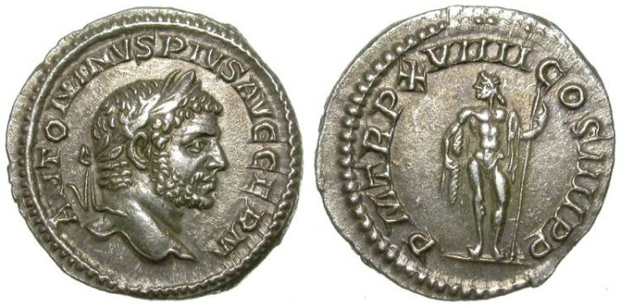 Ancient Coins - CARACALLA. DENAR. FORCEFUL PORTRAIT. NICE ISSUE !