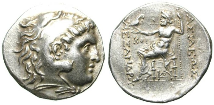 Ancient Coins - ALEXANDER THE GREAT. TETRADRACHM. EF. BEAUTIFUL ISSUE !
